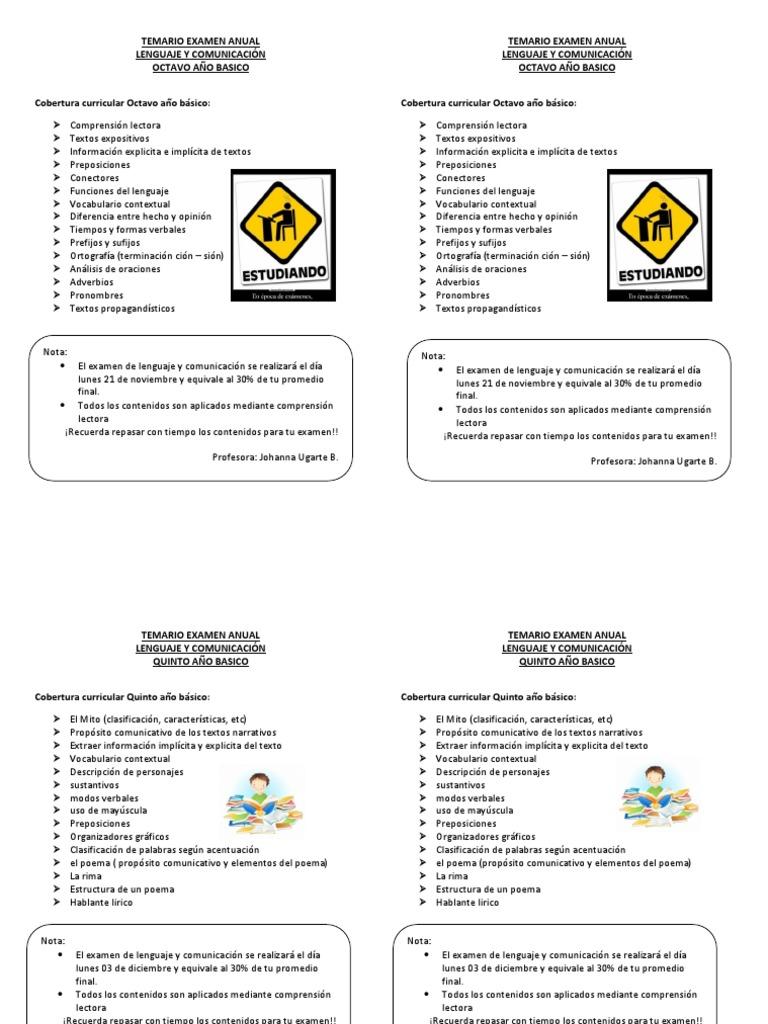 Temario Examen Anual Tipología Lingüística Ciencia Cognitiva