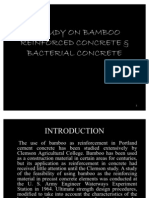 A Study on Bamboo Reinforced Concrete & Bacterial Concrete