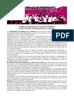 Intersindical de Mujeres pronunciamiento por el 8M 2019