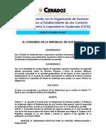 Decreto 35-2007 CICIG