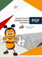 Matrícula Académica Antiguos 2019-1
