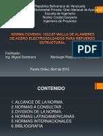Norma COVENIN 1022-97 Mallas de Alambre de Acero Para Refuerzo Estructural.