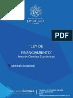 Ley de Financiamiento 2019