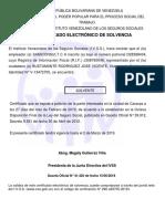 Solvencia Del Ivss Samiconsult c.a Enero 2019