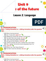 Unit 9 Cities of the Future Lesson 2 - Language 2