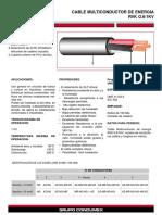cable multiconductor RVK