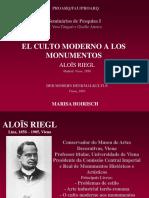 El Culto Moderno a Los Monumentos Seminários i