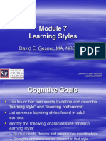 Module 7 Learning Styles