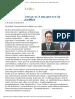ConJur - A Definição de Democracia Em Uma Era de Confusão Democrática