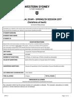 200488 Sample Final Exam Spring 2017