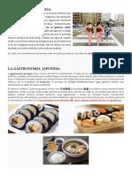 La Cultura Japonesa, Gastronomia Japonesa y La Cocina Nikkei