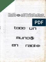 Radioactividades, folleto de presentación el programa
