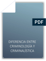 ENSAYO Diferencia Criminologia Criminalistica