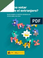 2019 Abril Preguntas Elecciones voto rogado maec