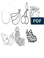 Desenhos de Frutas Pra Pintar