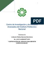 Cinvestav Inglés 2015