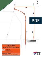 2019 I-75 Construction project detours, 14 Mile detour 1