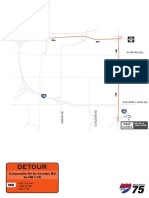 2019 I-75 Construction project detours, Corporate Drive detour