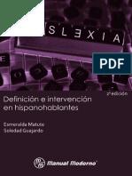 Dislexia Definición e Intervención en Hispanohablantes, Ed. 2 - Esmeralda Matute & Soledad Guajardo