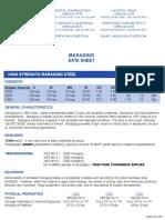 Maraging Steel Data Sheet