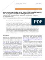 Experimental Effect TiO2 Nanofluid and KCL Salt on Polymeric Water