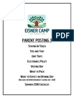 Camp Eisner Info 2018 Parent Posting 3