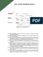 Lenguas monosilábicas y Lenguas aglutinantes