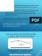 Shallow Water Model Exercise