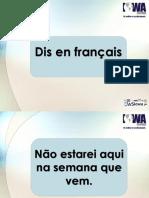 Futur Simple Dis en Français