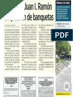 07-03-19 Inician en Juan I. Ramón ampliación de banquetas