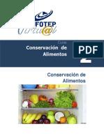 tipos de métodos de conservación de alimentos