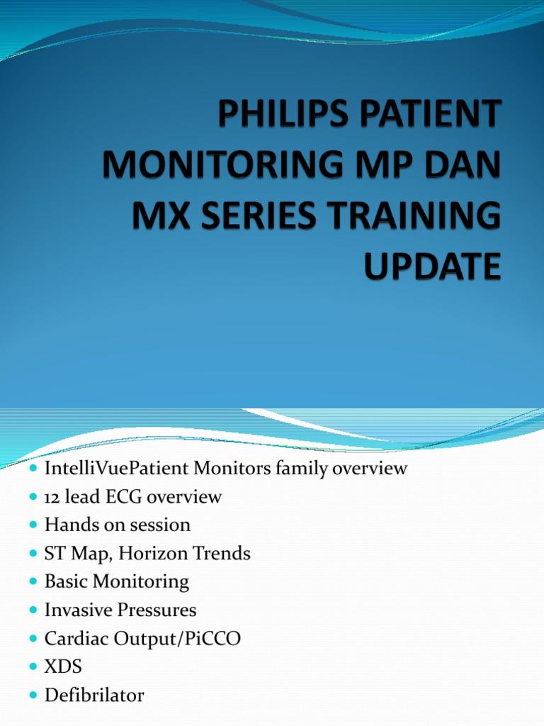 PHILIPS PATIENT MONITORING MP DAN MX SERIES TRAINING ppt