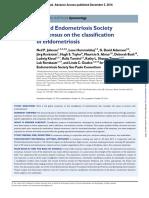 Consenso en La Clasificacion de Endometriosis
