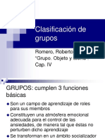 1. Clasificacion de Grupos Romero