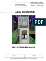 MMACES-001 Manual Do Usuario Plataforma Hidráulica