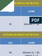 Leitura Da Bíblia Em 90 Dias