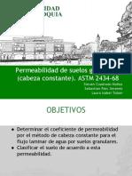 Permeabilidad ASTM2434-68