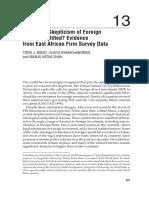 Africa FDI Reading