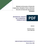 Revisión del concepto de ruralidad en la Argentina y alternativas posibles para su redefinición
