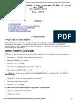 Notas de la instalación de la HP Color