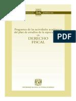 Progrmas de Las Actividades Academicas Del Plan de Estudio de La Especialización en Derecho Fiscal