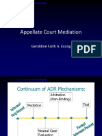 Appellate Court Mediation in the Phils