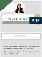Presentacion a Hablar en Publico