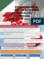 Recomendaciones Para La Prevención de Errores de Medicación DIAPO