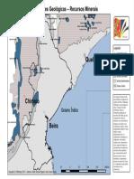 Mapa de Formações Geológicas – Recursos Minerais
