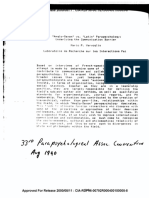 Anglo-Saxon vs Latin Parapsychology Underlying the Communication Barrier CIA-RDP96-00792R000400100005-8