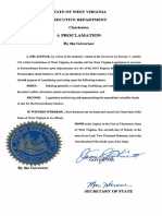 Special Session Proclamation