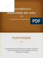Consistência e Plasticidade Dos Solos