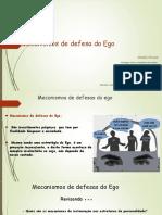 Mecanismos de Defesa do Ego. Revisado