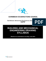 310779567 CAPE Building and Mechanical Engineering Syllabus With Specimen Papers